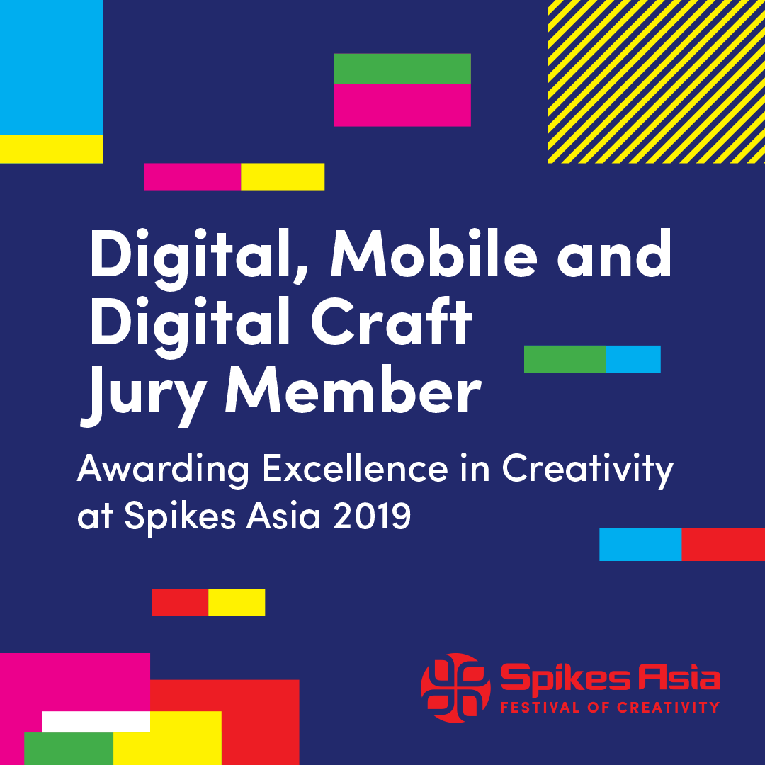 Congratulations to Ronnie Wu, CCO of TBWA\China as a member of Digital, Mobile & Digital Craft Jury in 2019 Spikes Asia